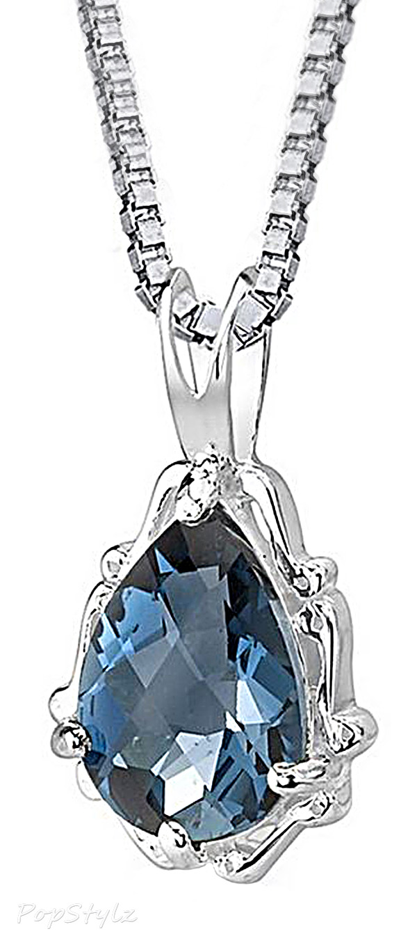 London Blue Topaz Pendant Necklace