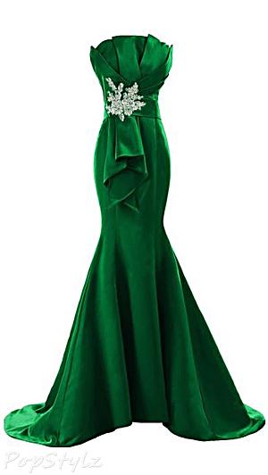 Sunvary 2015 Satin Mermaid Evening Gown
