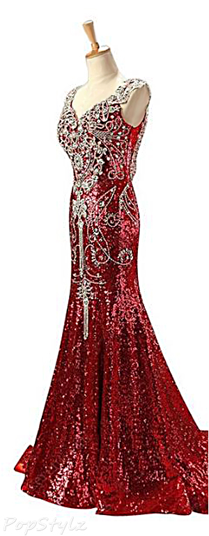 Sunvary Sequin Mermaid Evening Gown