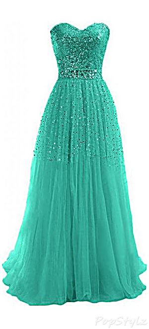 Sunvary Sweetheart Strapless Evening Gown