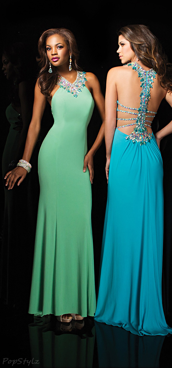 Tony Bowls 114715 Elegant Jeweled Evening Gown