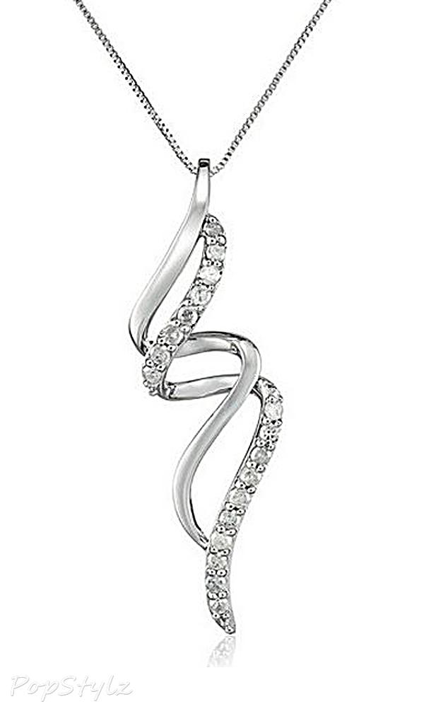 Diamond Free-Form Pendant Necklace