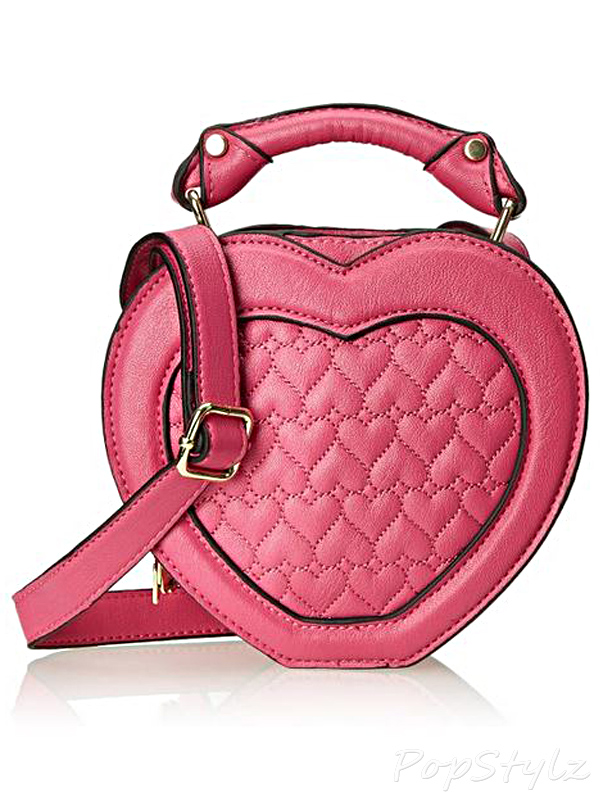 Betsey Johnson Heart Cross Body Handbag