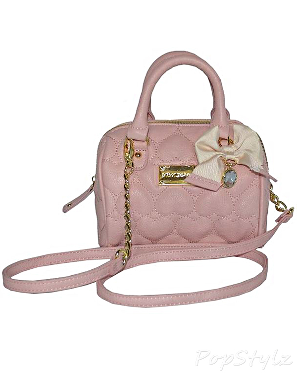 Betsey Johnson Puffy Hearts Handbag