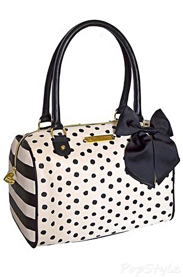 Betsey Johnson Polka Dot Satchel Handbag