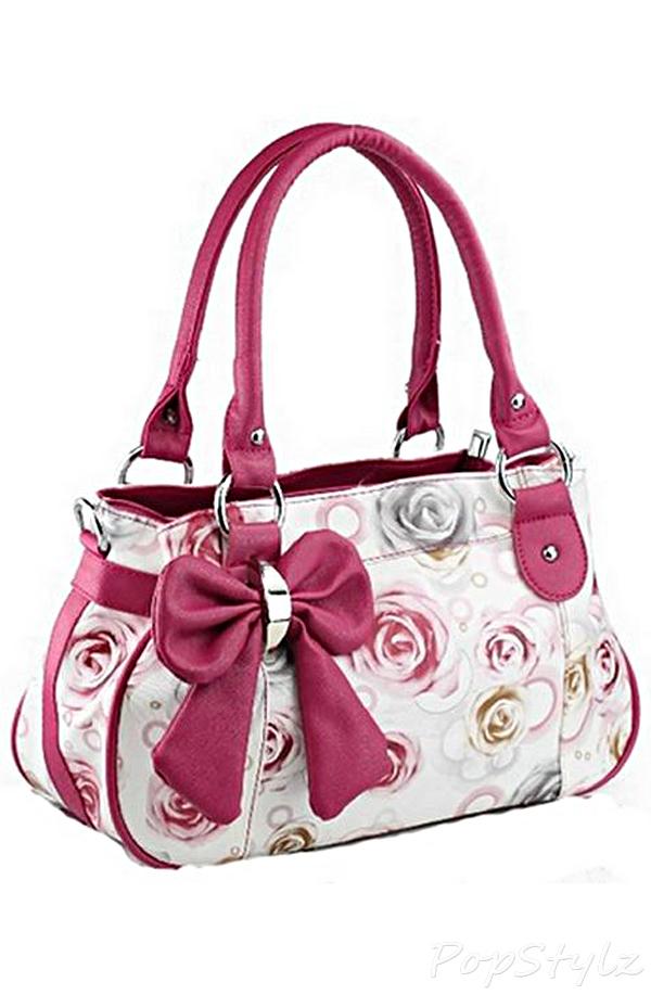 Buenocn Hl476 Floral Bow Fashion Handbag