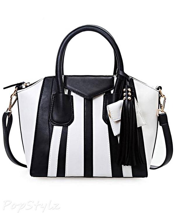 Buenocn Shy225 Striped Messenger Handbag