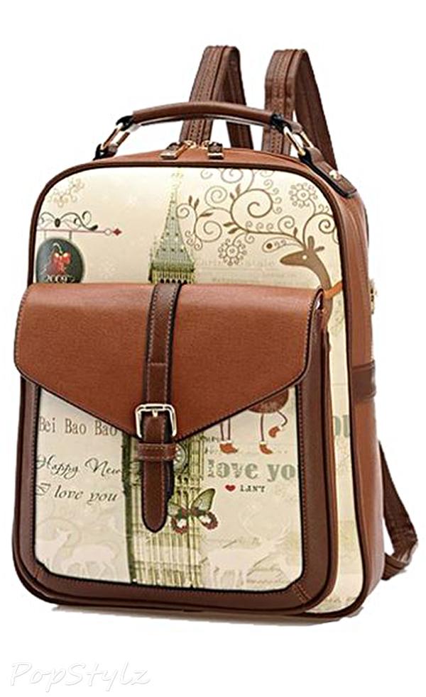 Buenocn Shy513 Classic Print Backpack