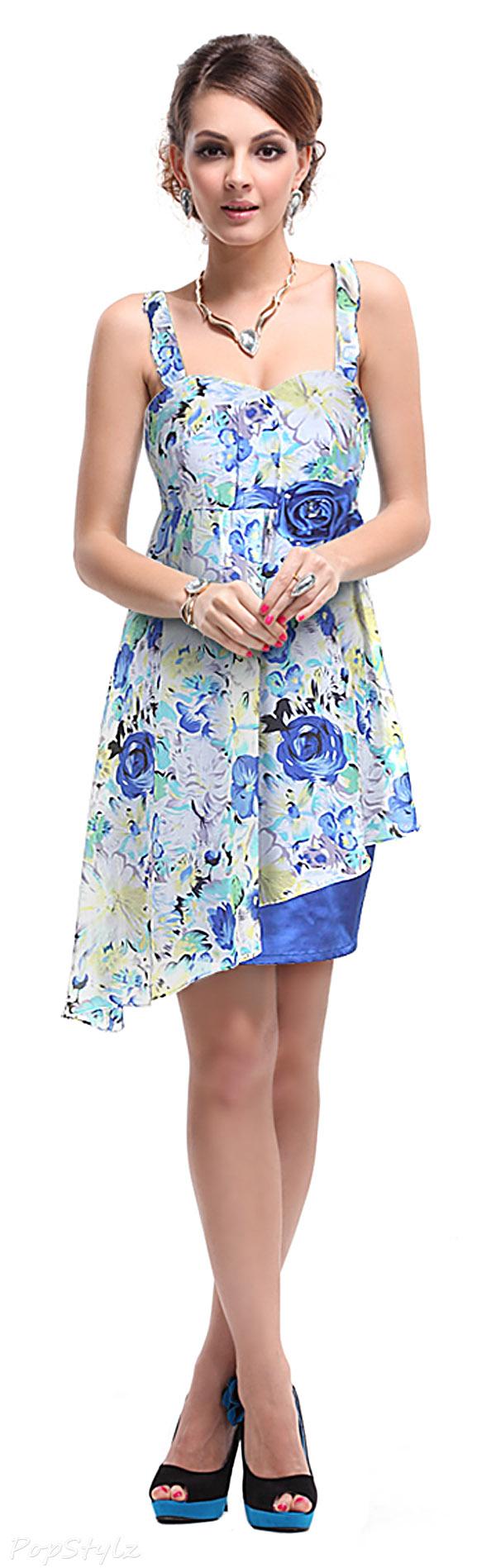 Ever Pretty 02368 Asymmetric Floral Print Dress