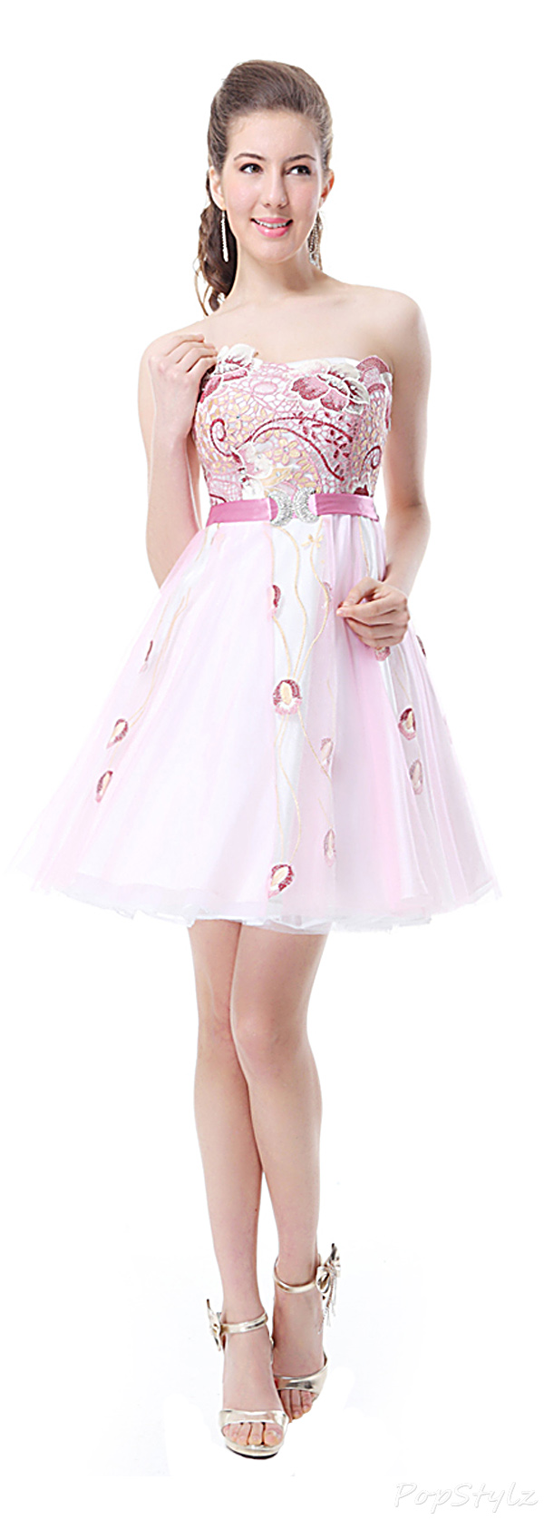 Ever Pretty 03739 Embroidery Flower Party Dress