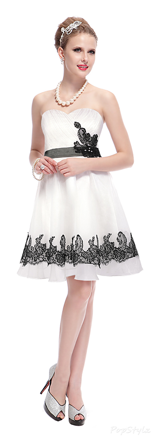Ever Pretty 03962 Lacy Flare Skirt Party Dress