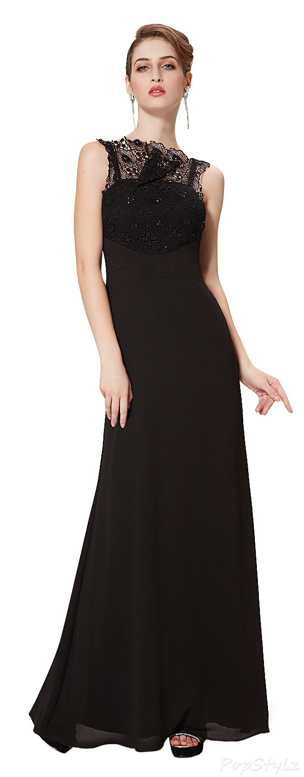 Ever Pretty 08261 Lace Collar Evening Gown