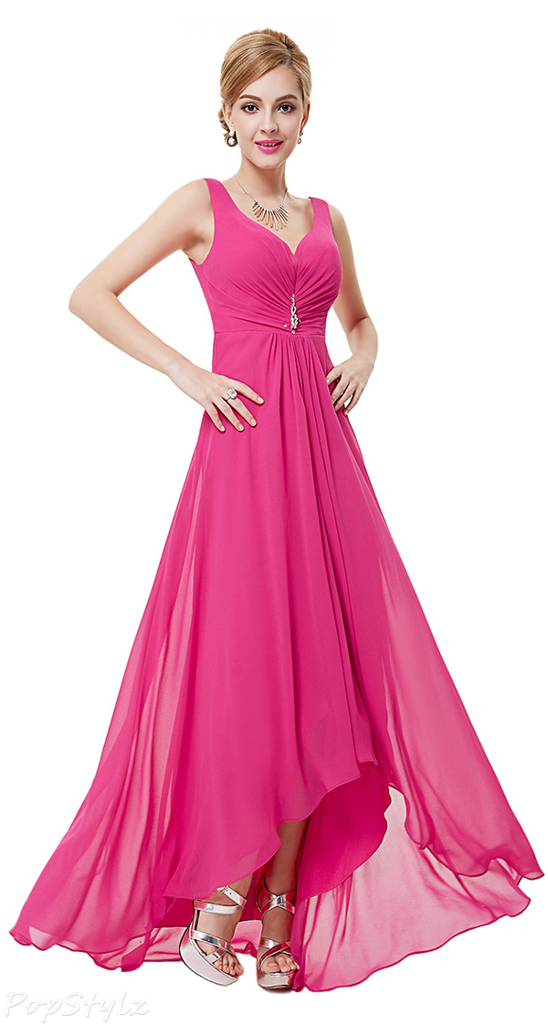Ever Pretty 09983 Rhinestones Hi-Lo Evening Dress