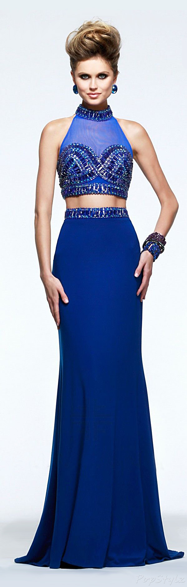 Faviana S7506 Halter Top Long Gown
