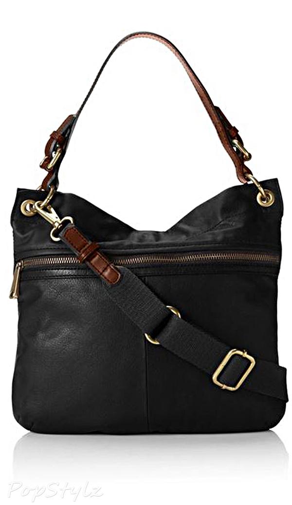 Fossil Explorer Hobo Leather Handbag