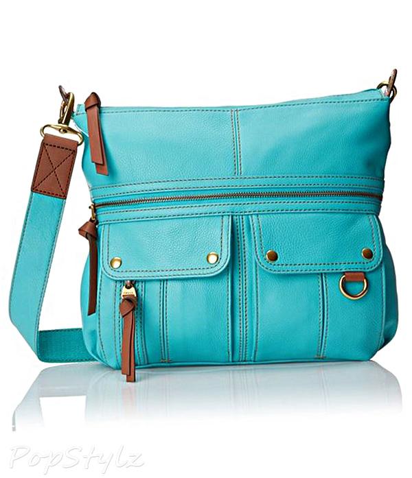 Fossil Morgan Top Zip Leather Handbag
