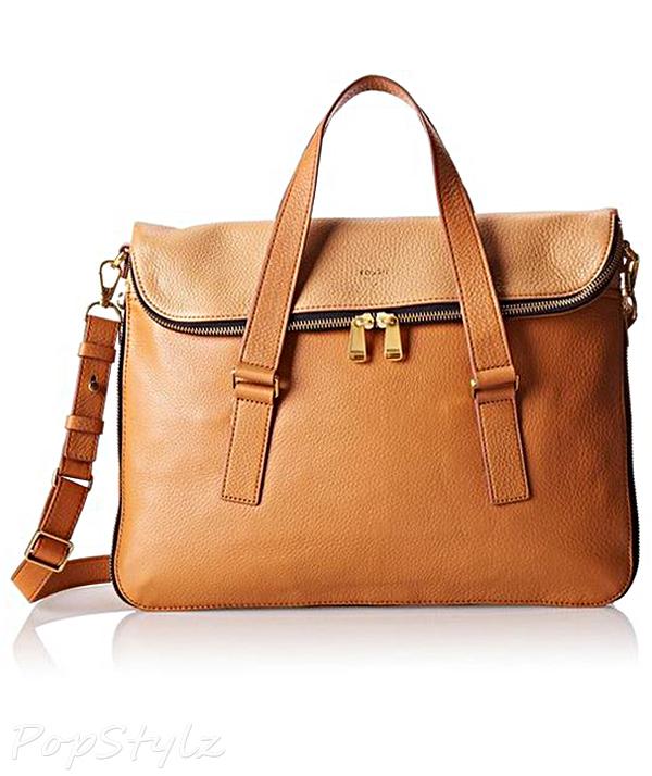 Fossil Preston Colorblock Leather Handbag