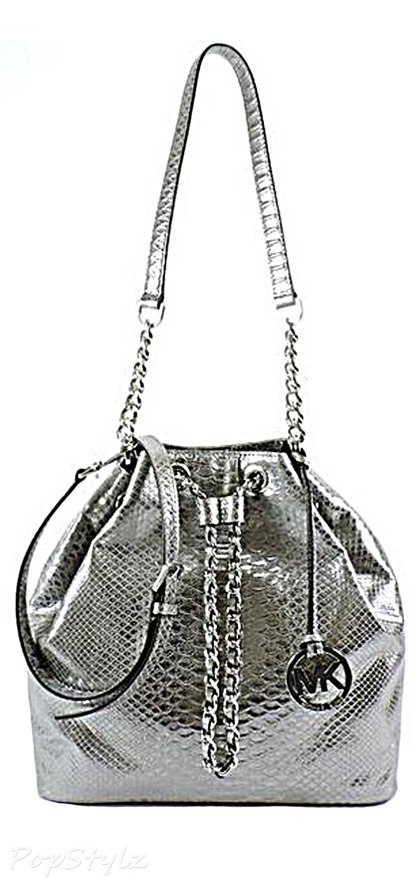 Michael Kors Frankie Python Embossed Leather Handbag