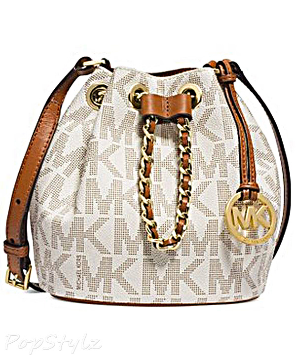 Michael Kors Signature Drawstring Crossbody Handbag