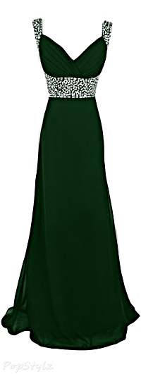 Sunvary Chiffon & Sequins Long Evening Gown
