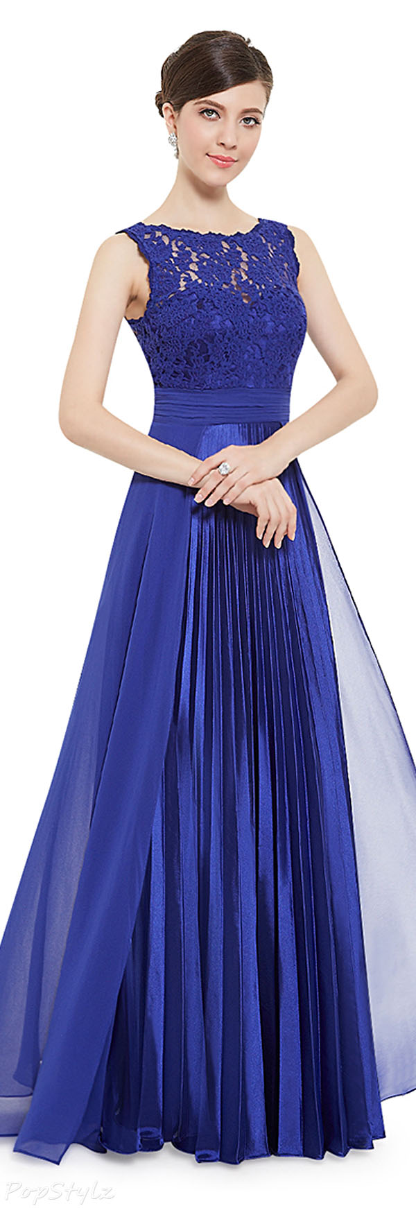 Ever Pretty 08352 Lace Pleated Long Evening Dress