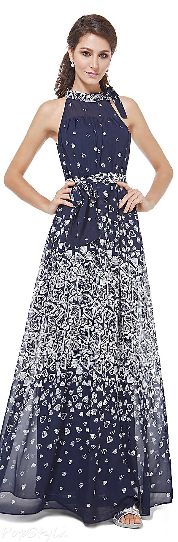 Ever Pretty 08385 Adjustable Halter Maxi Party Dress