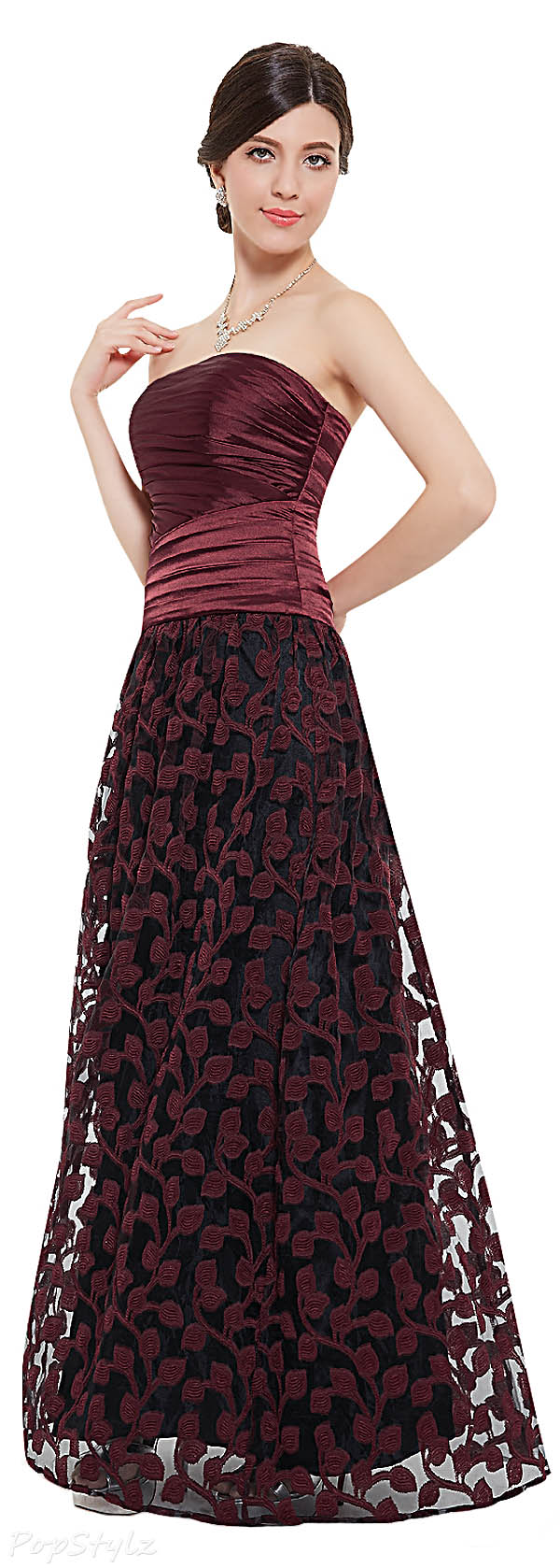 Ever Pretty 08474 Ruched Bodice Long Evening Gown