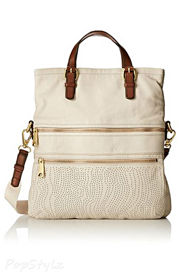 Fossil Explorer Perf Tote Leather Handbag