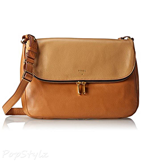 Fossil Preston Flap Cross Body Leather Handbag