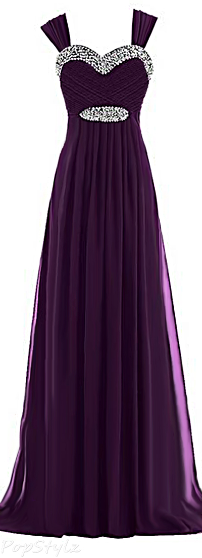 Sunvary Chiffon Long Formal Evening Gown