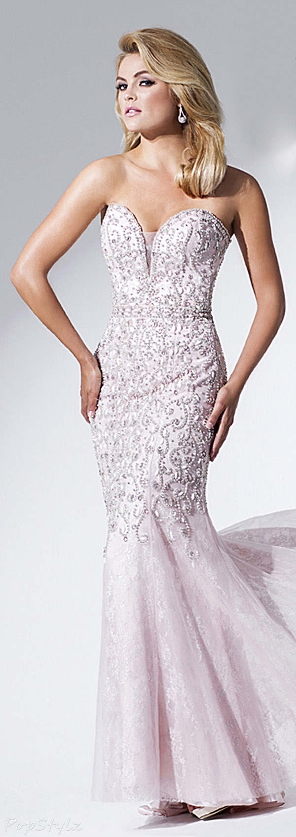 Tony Bowls TBE11537 Sweetheart Long Evening Gown
