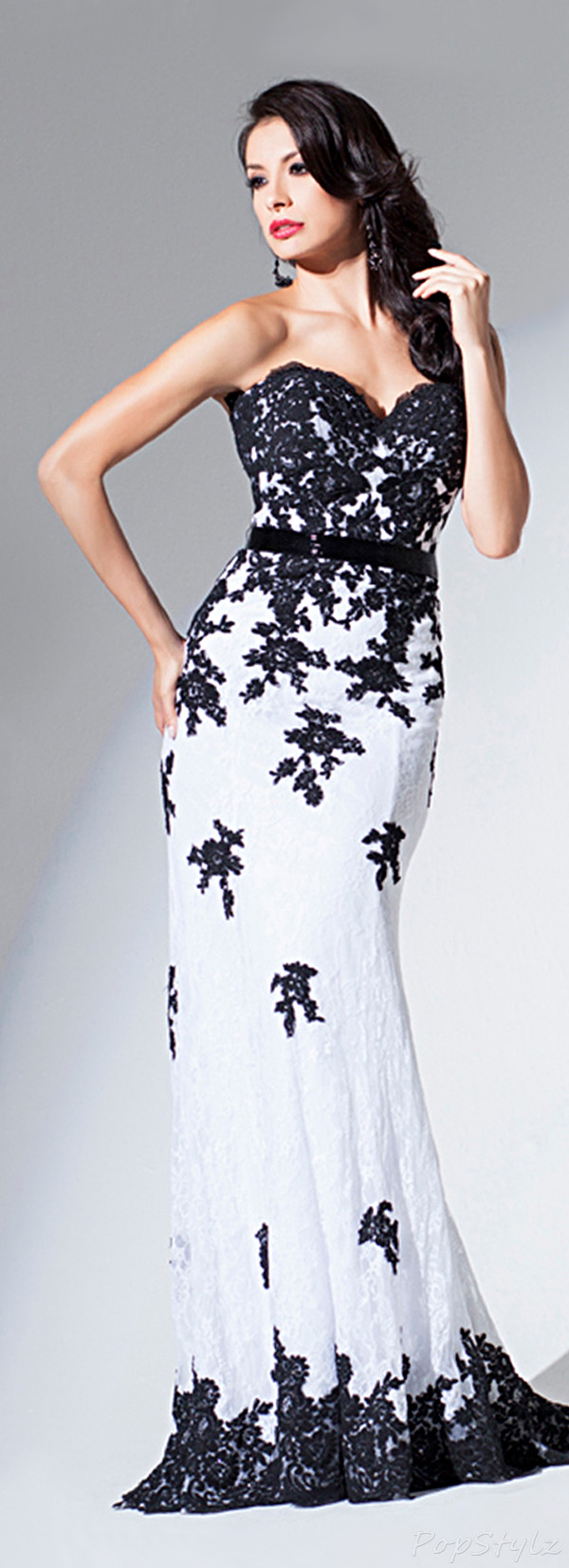 Tony Bowls TBE11560 Strapless Sweetheart Long Gown