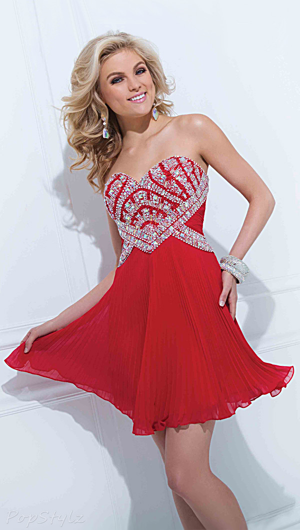 Tony Bowls TS11471 Sassy Short Red Dress
