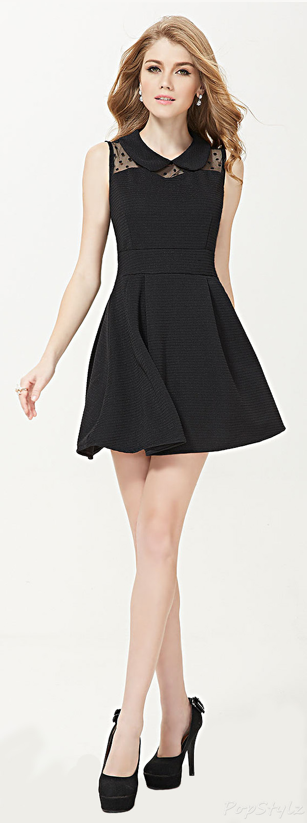 Alisa Pan 05128 Sleeveless Short Casual Skater Dress