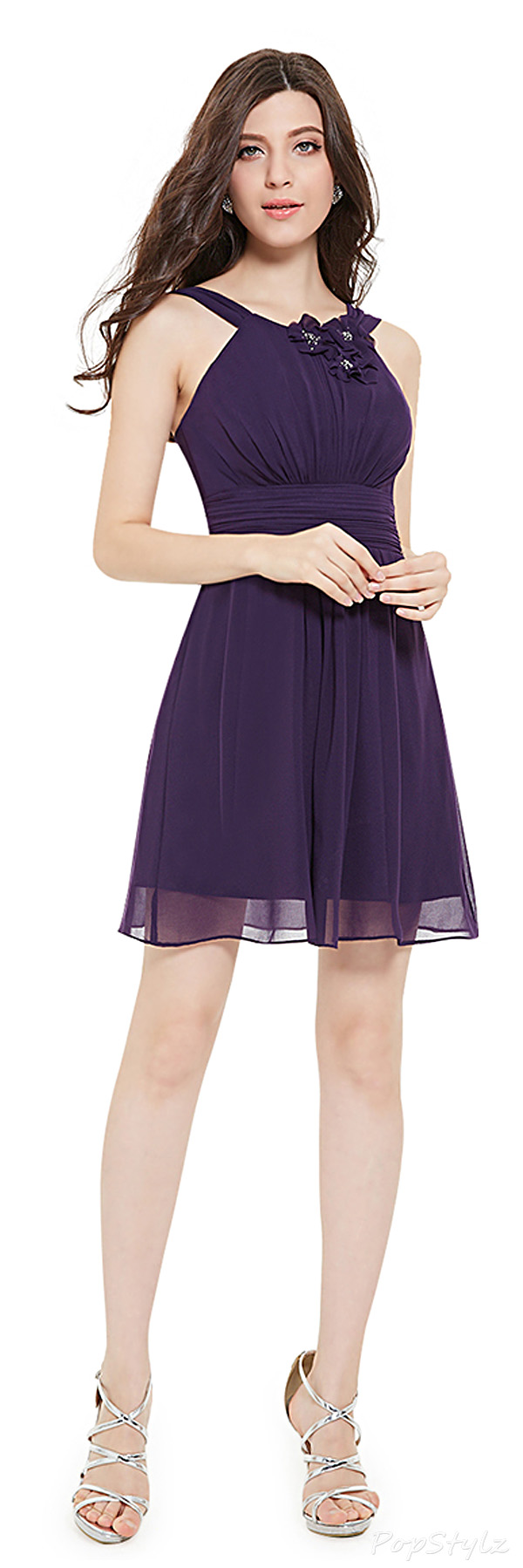 Ever Pretty 05243 Ruched Bust Empire Waist Short Dress