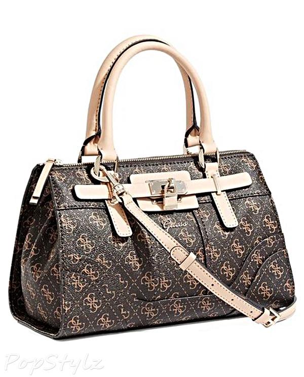 Guess Greyson 4-G Logo Small Satchel Handbag