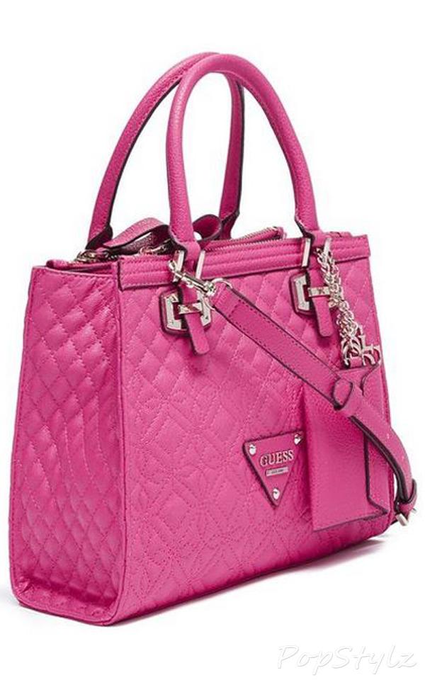 Guess Sunset Quilt Satchel Handbag