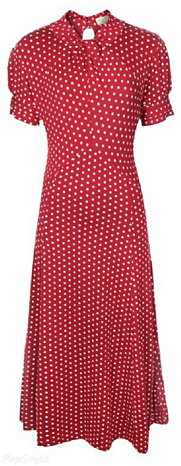 Lindy Bop 'Amie' Classy Polka Dot Retro 40's 50's Pinup Tea Dress