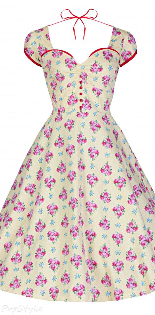 Lindy Bop 'Bella' Kitsch Vintage 1950's Style Garden Party Dress