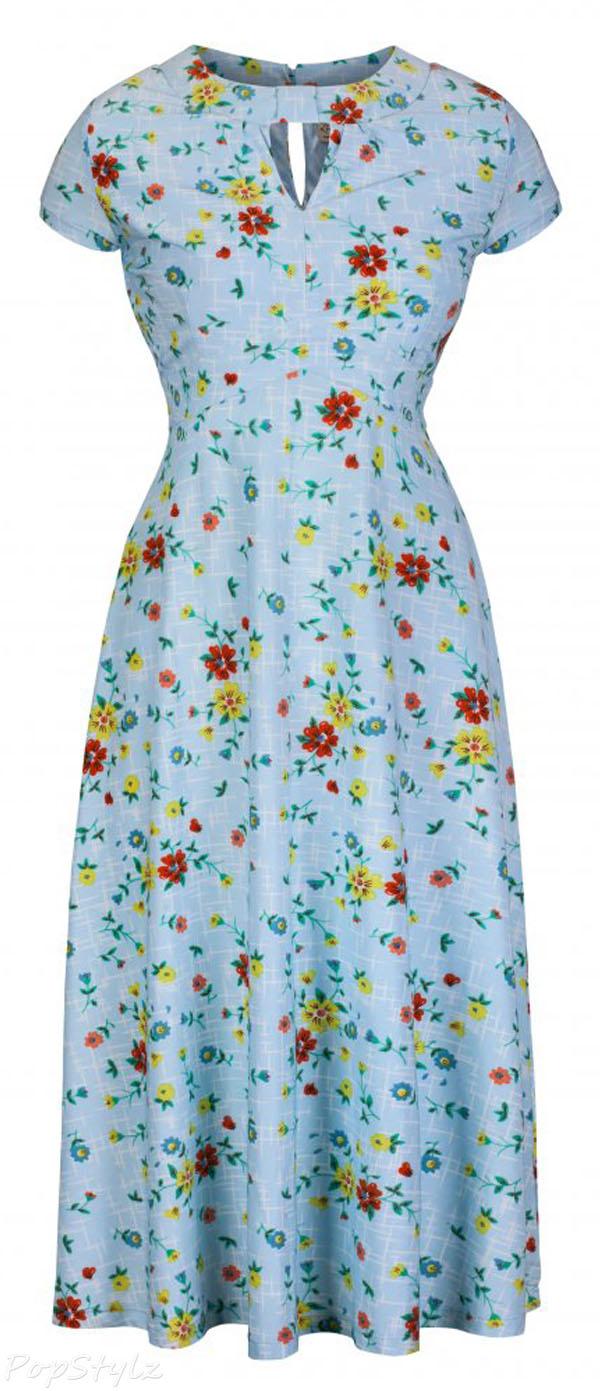 Lindy Bop 'Juliet' Kitsch Vintage 1950's Floral Tea Dress