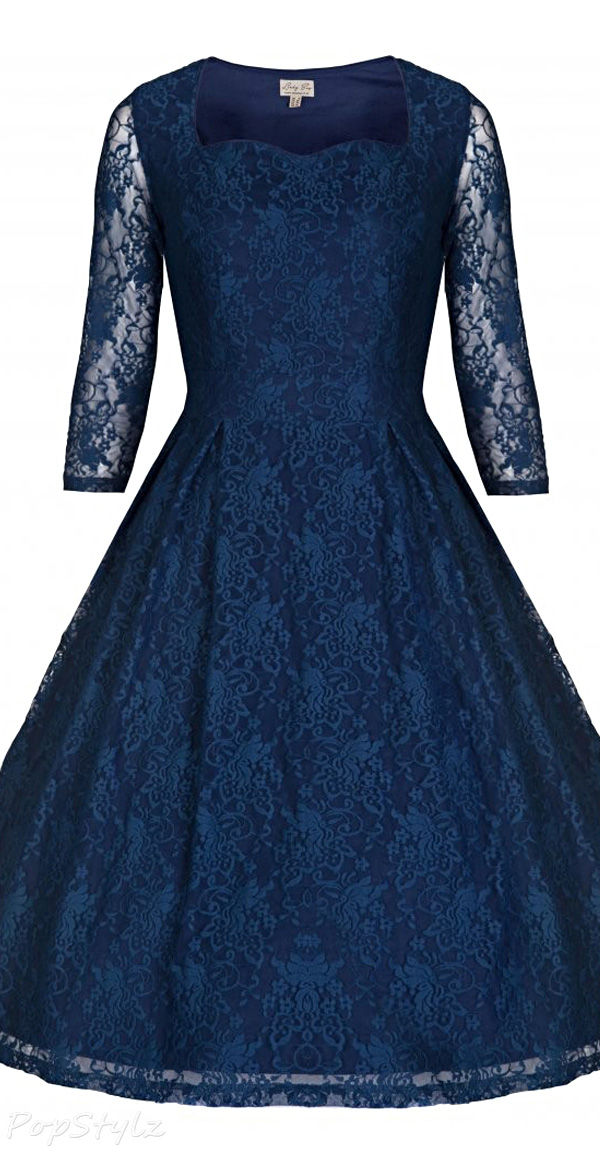 Lindy Bop 'Lisette' Exquisitely Elegant Lace 40's 50's Style Party Dress