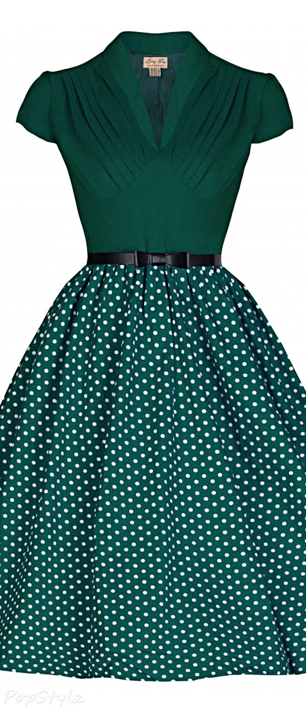 Lindy Bop 'Megan' Flirtatiously Fun 50's Vintage Inspired Polka Party Dress