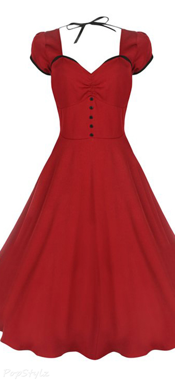 Lindy Bop 'Bella' Classy Vintage 1950's Rockabilly Style Swing Party Dress