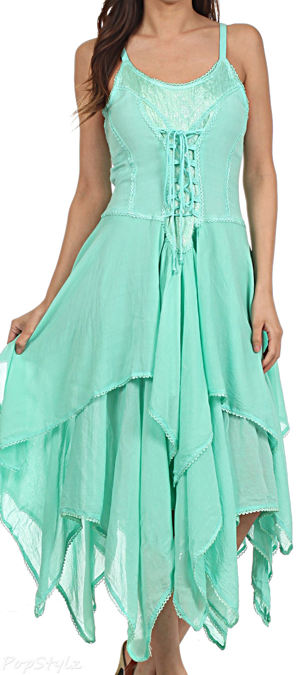 Sakkas Lady Mary Jacquard Corset Bodice Dress