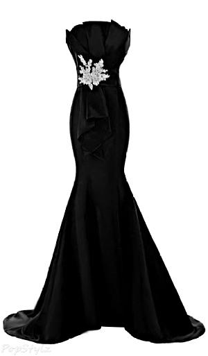 Sunvary Sheath Mermaid Satin Long Evening Gown
