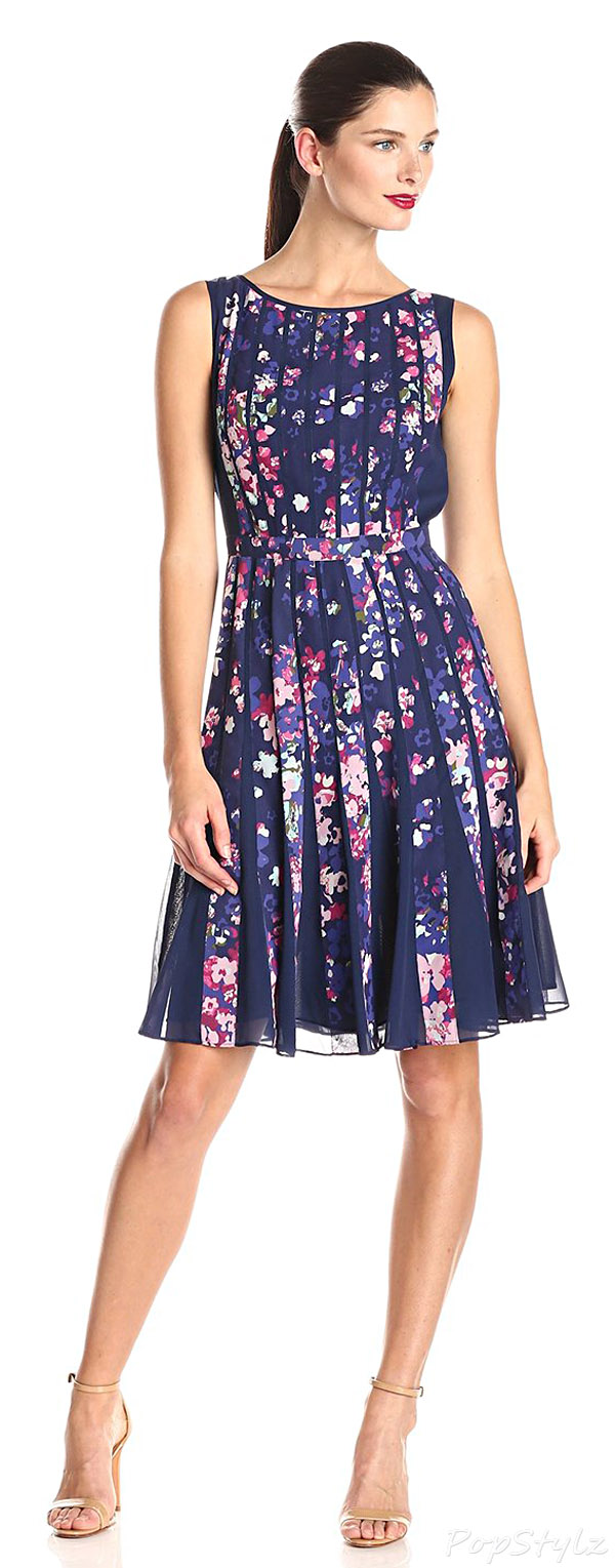 Adrianna Papell Women's Petite Fit & Flare Dress