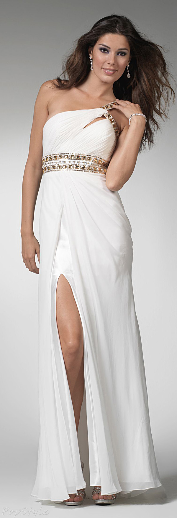 Clarisse 1501 One Shoulder Ivory Gown