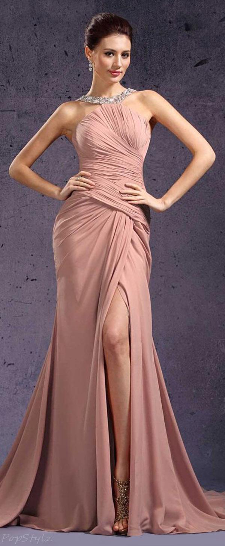 eDressit 02131546 Beaded Halter Long Evening Gown