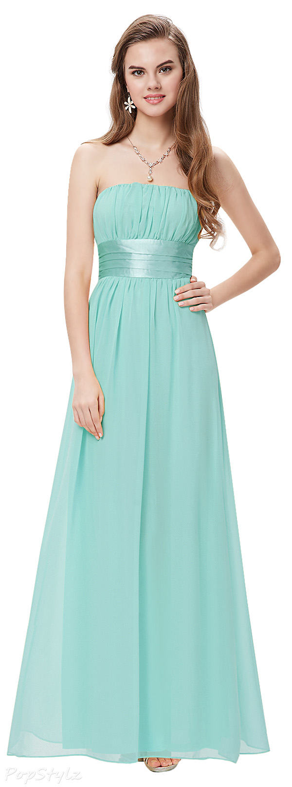 Ever Pretty 09060 Bowtie Strapless Long Evening Dress