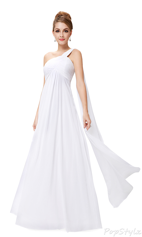 Ever Pretty 09816 One Shoulder Ruffled Long Evening Dress